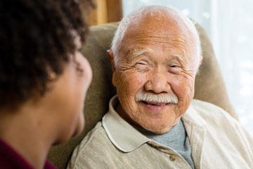 communicating senior with somebody