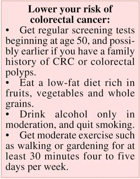 <b>Ways to Lower Your Risk Of Colorectal Cancer</b>&#8220;></td> <td> <p>(<a href=