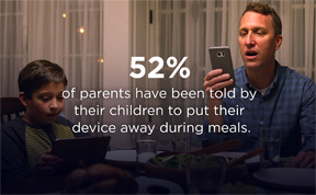 How Parents Can Have A Device-Free Meal with the Tap of A Button