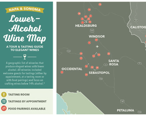 Try A Travel Tour Map Tailored to Low-Alcohol Wines