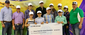 Udderly Brilliant: Ag Students Win CME Group Scholarships at Illinois State Fair